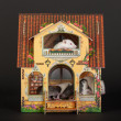 Stock Photo: Rats in dollhouse