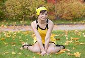 Girl in yellow — Stock Photo