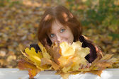 Autumn portrait — Stock Photo