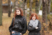 Two girls with red hair — Stock Photo