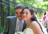 Retrato de um casal feliz — Fotografia Stock