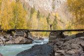 Travelling on the bridge — Zdjęcie stockowe