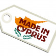 Label Made in Cyprus — Stock Vector