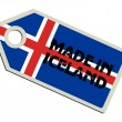 Label Made in Iceland — Stock Vector