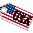 Label Made in USA — Stock Vector