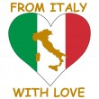 From Italy with love — Stock Vector