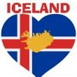 From Iceland with love — Stock Vector