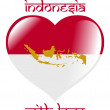 From Indonesia with love — Stock Vector