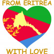 From Eritrea with love — Stock Vector