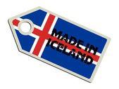 Label gemaakt in ijsland — Stockvector