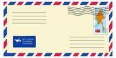 Brief mit stempel — Stockvektor