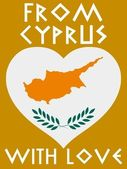 From Cyprus with love — Stock Vector