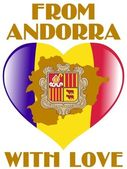 From Andorra with love — Stock Vector