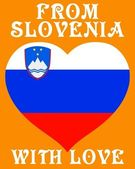 From Slovenia with love — Stock Vector