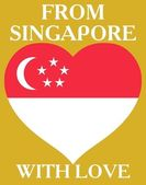 From Singapore with love — Stock Vector