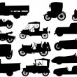 Set of silhouettes of classical cars — Vetorial Stock #13310149