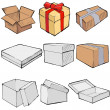Set of boxes — Stock Vector