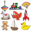Royalty-Free Stock Vector Image: Set of toys