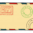 Old post envelope — Stock Vector