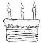 pastel de cumpleaños — Vector de stock  #21202381