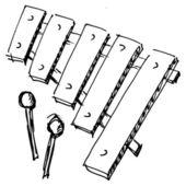 Xylophone — Stock Vector