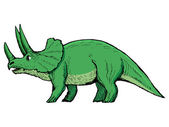 Triceratops — Vetorial Stock
