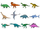 Set of different dinosaurs — Stock Vector