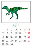 Calendar, April 2014 — Stock Vector