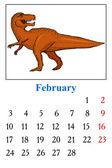 Calendar, February 2014 — Stock Vector