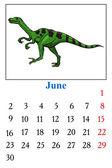 Calendar, June 2014 — Stock Vector