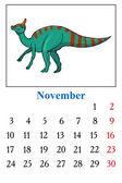Calendar, November 2014 — Stock Vector