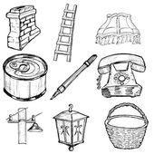 Zestaw ilustracji związanych z domu — Wektor stockowy