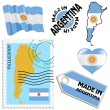 Stockvector : National colours of Argentina
