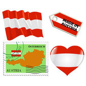 National colours of Austria — Stock Vector