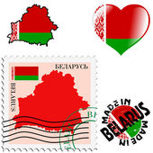 National colours of Belarus — Stock Vector