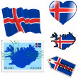 National colours of Iceland — Stock Vector