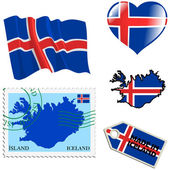 Couleurs nationales de l'islande — Vecteur