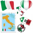 Stock Vector: National colours of Italy