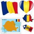 Stock Vector: National colours of Romania