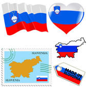 National colours of Slovenia — Stock Vector