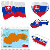 National colours of Slovakia — Stock Vector