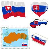 National colours of Slovakia — Stock Vector