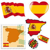 National colours of Spain — Stock Vector