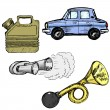 Set of automotive objects — Stock Vector #33195041