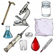 Set of medical objects — Vettoriale Stock #33195043