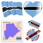National colours of Botswana — Stock Vector #35250335