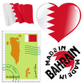 National colours of Bahrain — Stock Vector