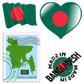 National colours of Bangladesh — Stock Vector