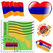 National colours of Armenia — Stock Vector