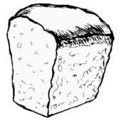 Pagnotta di pane — Vettoriale Stock